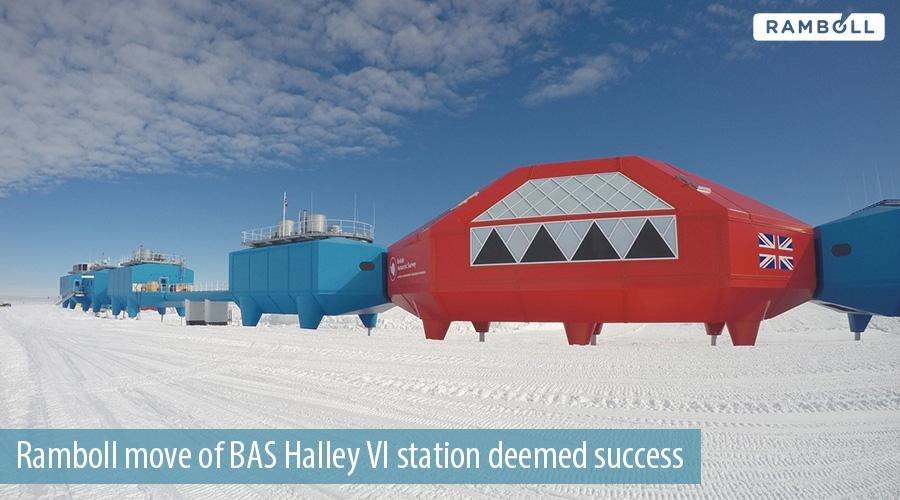 Ramboll move of BAS Halley VI station deemed success