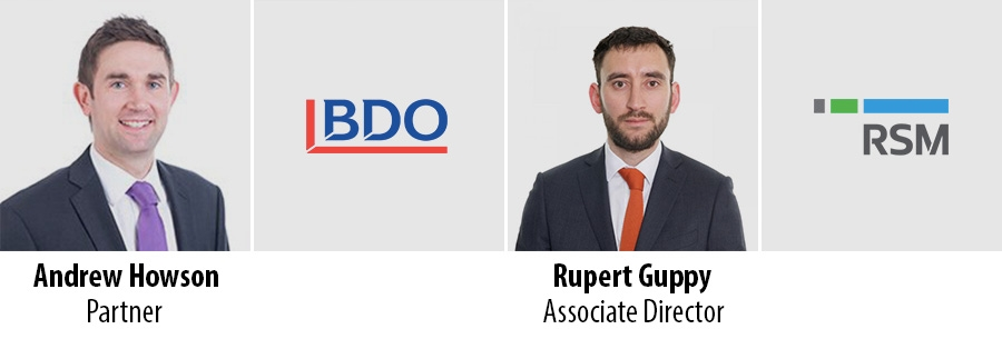 Andrew Howson, BDO and Rupert Guppy, RSM