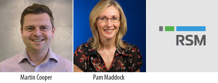 Martin Cooper and Pam Maddock - RSM