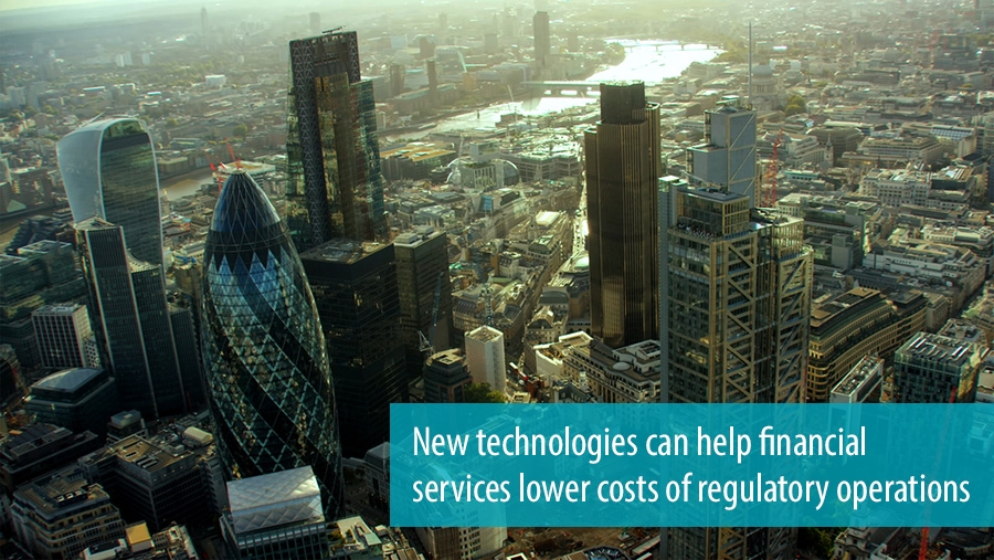 New technologies can help financial services to lower costs of regularoty operations