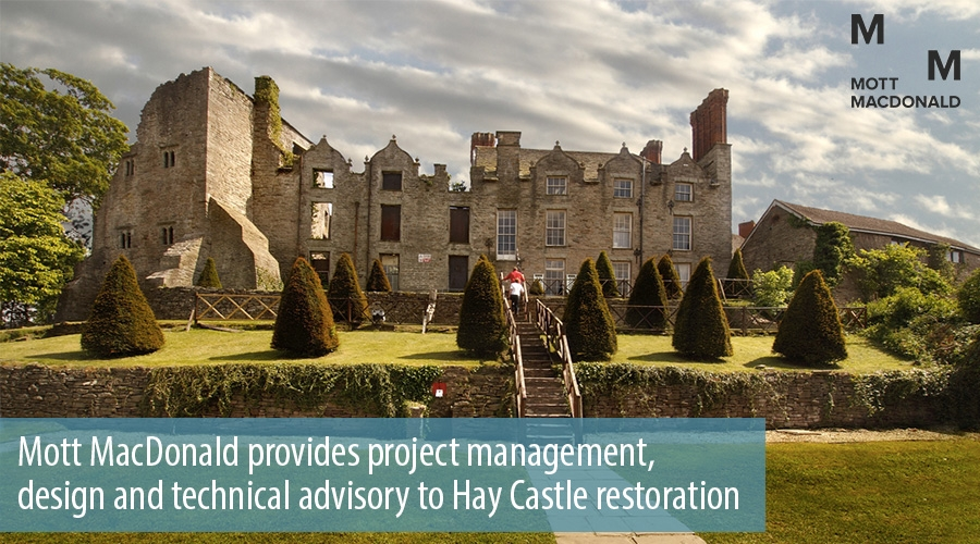 Mott MacDonald provides project management, design and technical advisory to Hay Castle restoration
