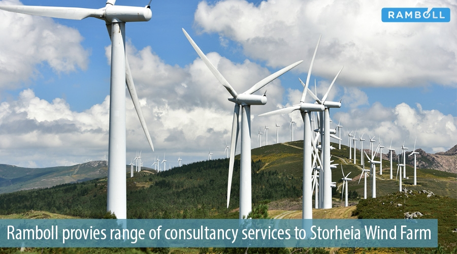 Ramboll provies range of consultancy services to Storheia Wind Farm