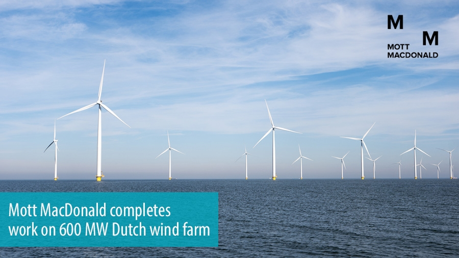 Mott MacDonald completes work on 600 MW Dutch wind farm