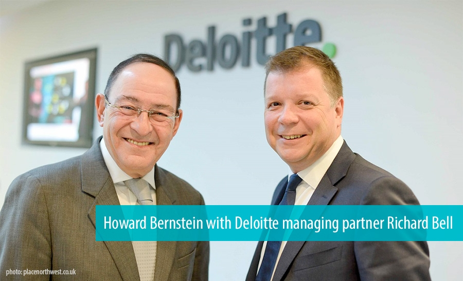Howard Bernstein with Deloitte managing partner Richard Bell