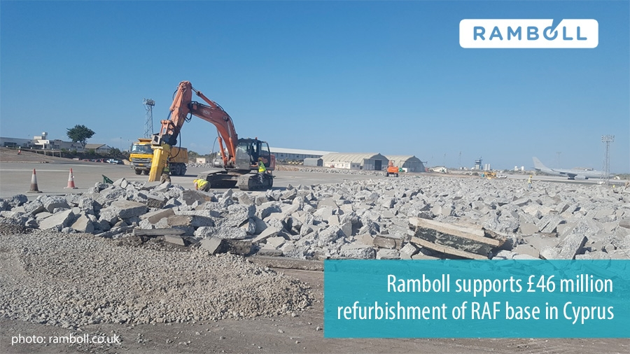 Ramboll supports £46 million refurbishment of RAF base in Cyprus