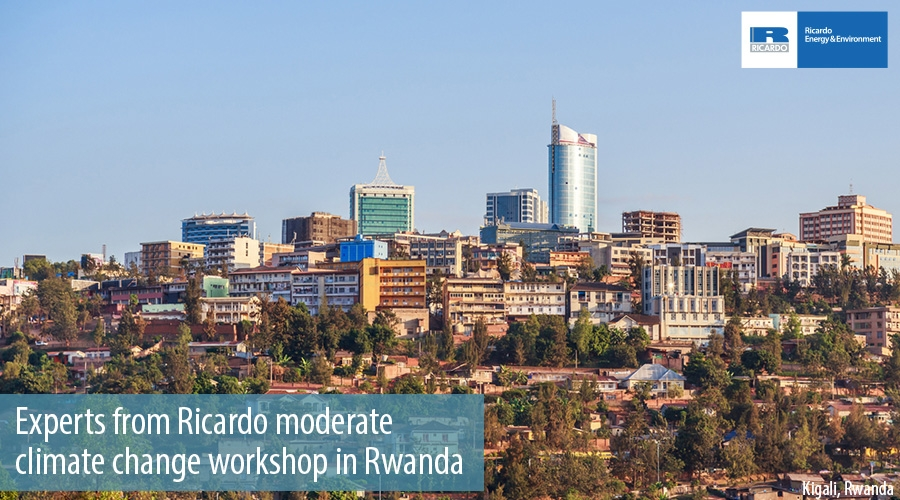 Experts from Ricardo moderate  climate change workshop in Rwanda