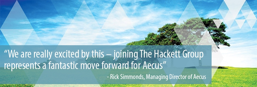 We are really excited by this – joining The Hackett Group  represents a fantastic move forward for Aecus