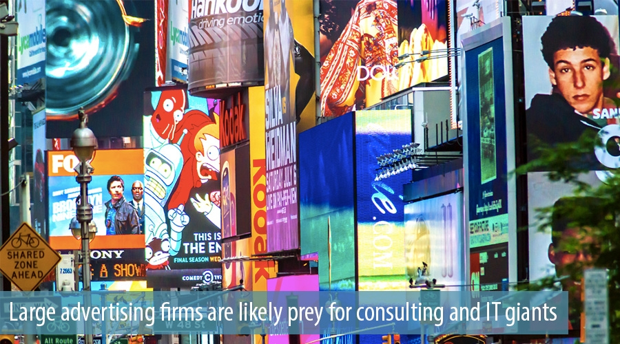 Large advertising firms are likely prey for consulting and IT giants