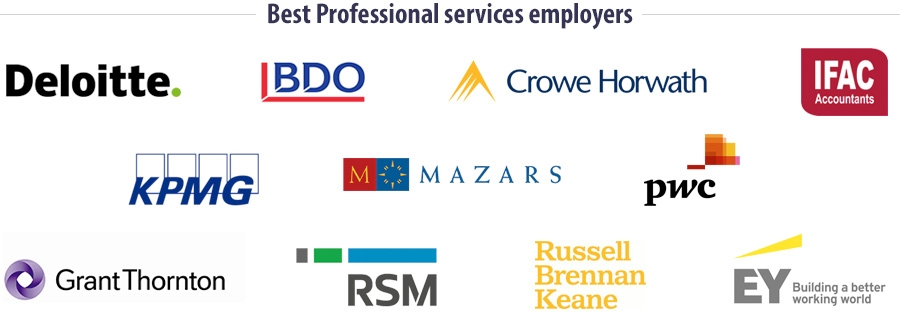 Best Professional services employers for students