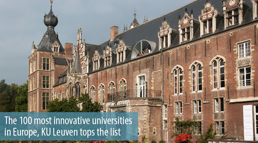 The 100 most innovative universities in Europe, KU Leuven tops the list