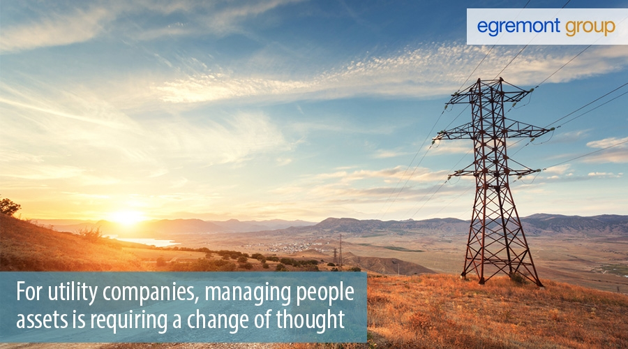 For utility companies, managing people assets is requiring a change of thought