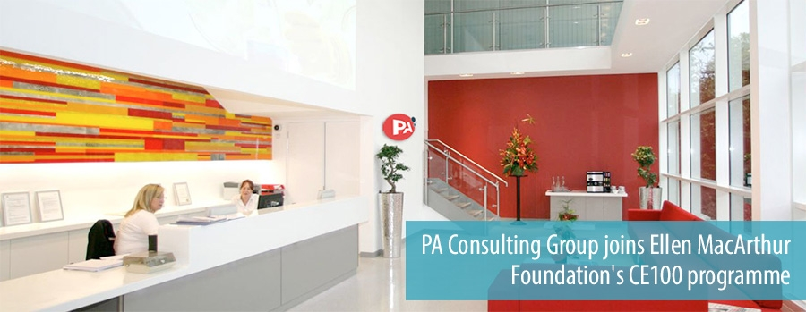 PA Consulting Group joins Ellen MacArthur Foundation's CE100 programme