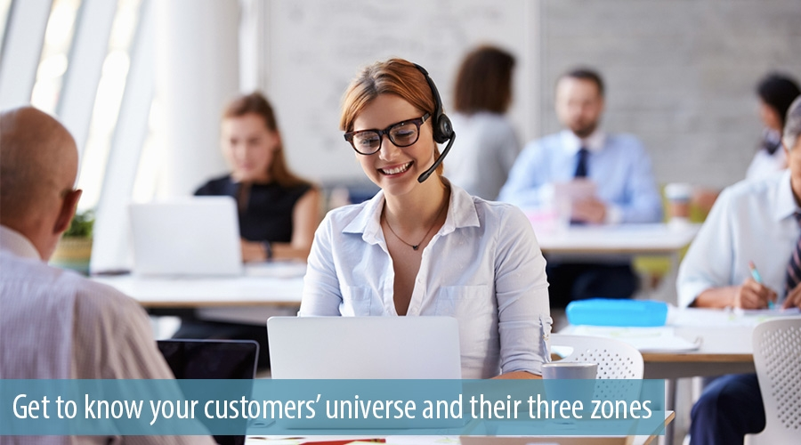 Get to know your customers' universe and their three zones