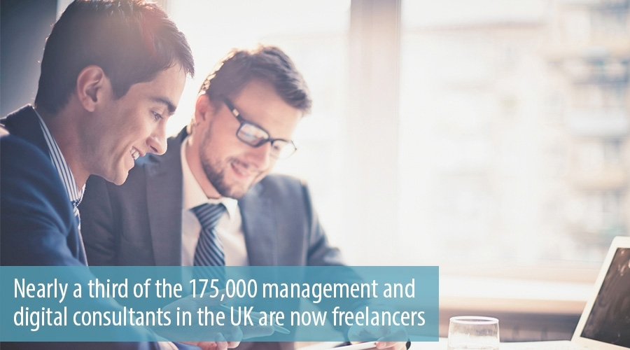 Nearly a third of the 17500 management and digital consultants in the UK are now freelancers