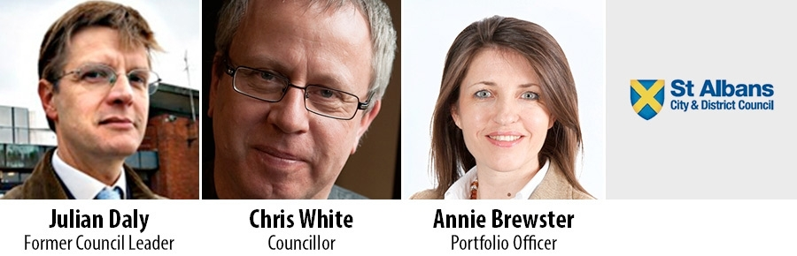 Julian Daly, Chris White and Annie Brewster - St Albans