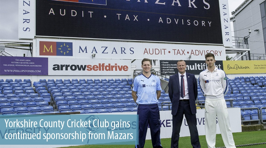 Yorkshire County Cricket Club gains continued sponsorship from Mazars