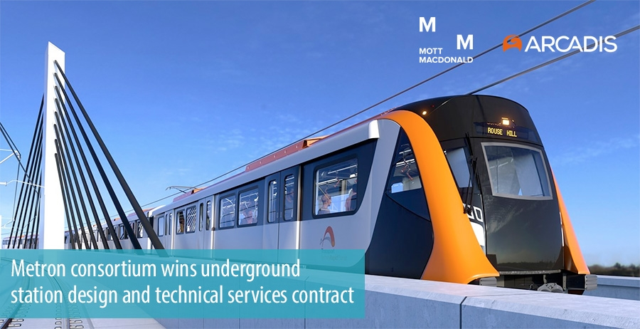 Metron consortium wins underground  station design and technical services contract