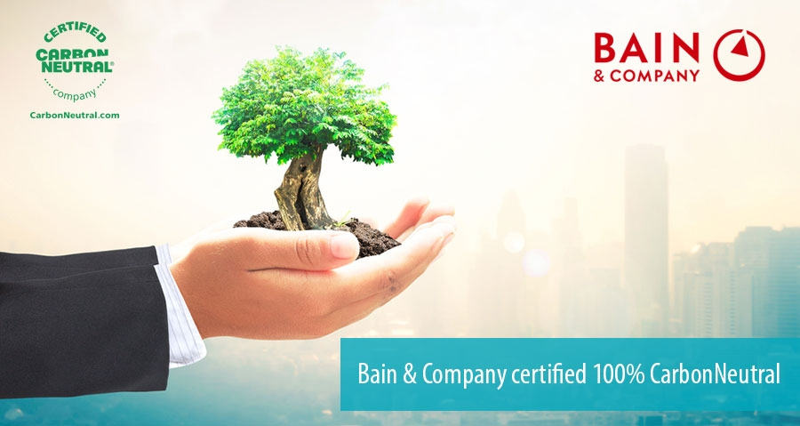 Bain & Company certified 100% CarbonNeutral
