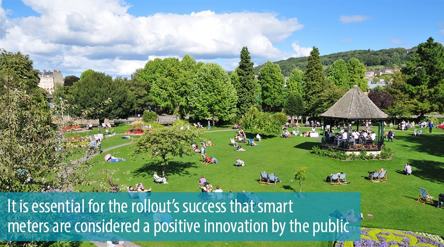 It is essential for the rollout's success that smart meters are considered a positive innovation by the public