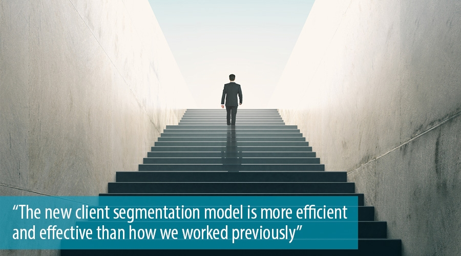 The new client segmentation model is more efficient and effective than how we worked previously