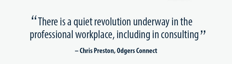 Quote Chris Preston, Odgers Connect