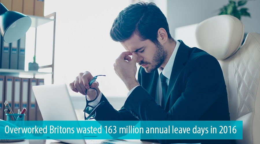 Overworked Britons wasted 163 million annual leave days in 2016
