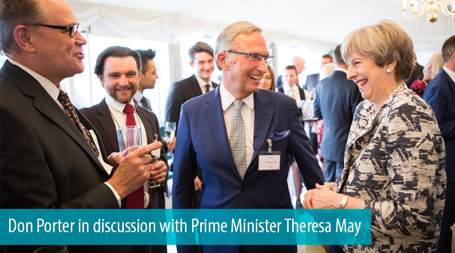 Don Porter in discussion with Prime Minister Theresa May