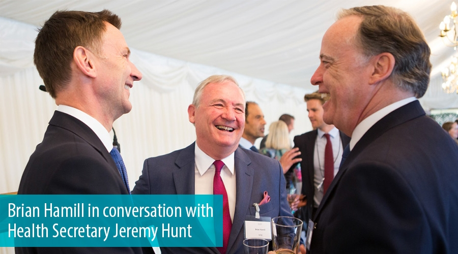 Brian Hamill in conversation with Health Secretary Jeremy Hunt