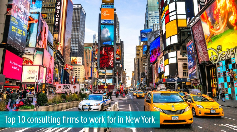 Top 10 consulting firms to work for in New York