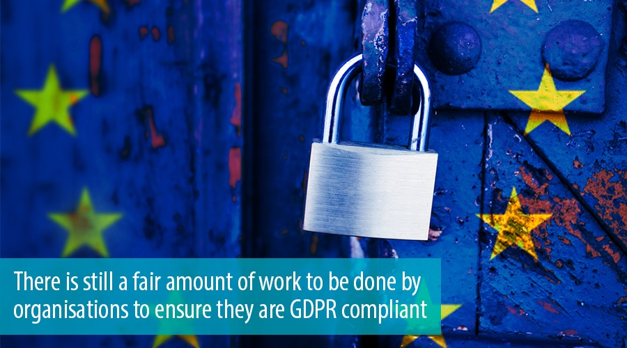 There is still a fair amount of work to be done by organisations to ensure they are GDPR compliant