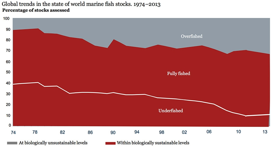 Global trends in the state of world marine fish stocks