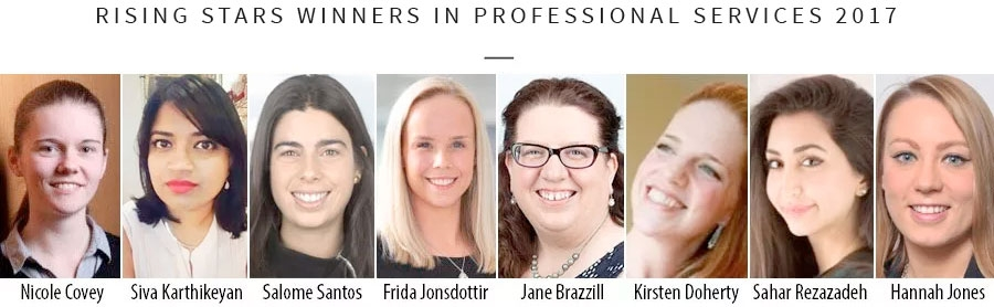 Rising stars winners in professional services 2017