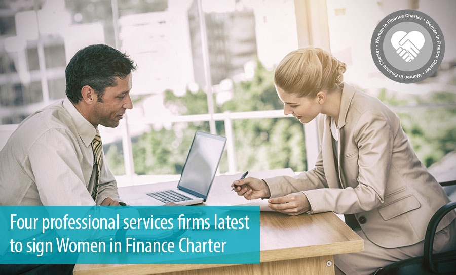Four professional services firms latest  to sign Women in Finance Charter