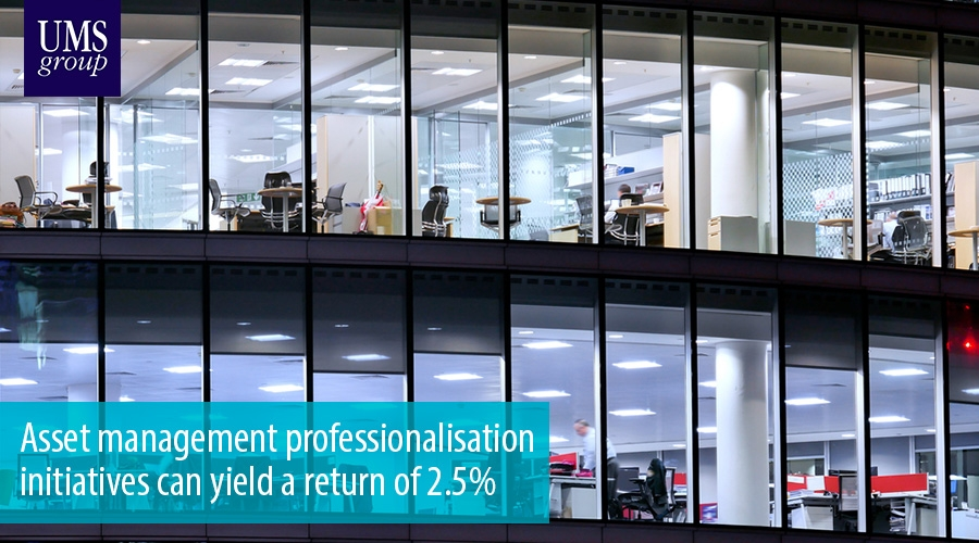 Asset management professionalisation initiatives can yield a return of 2.5