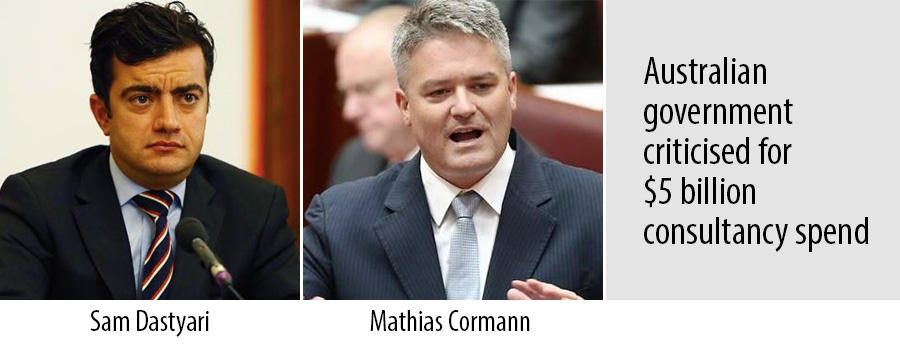 Sam Dastyari and Mathias Cormann