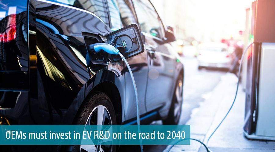 OEMs must invest in EV R&D on the road to 2040