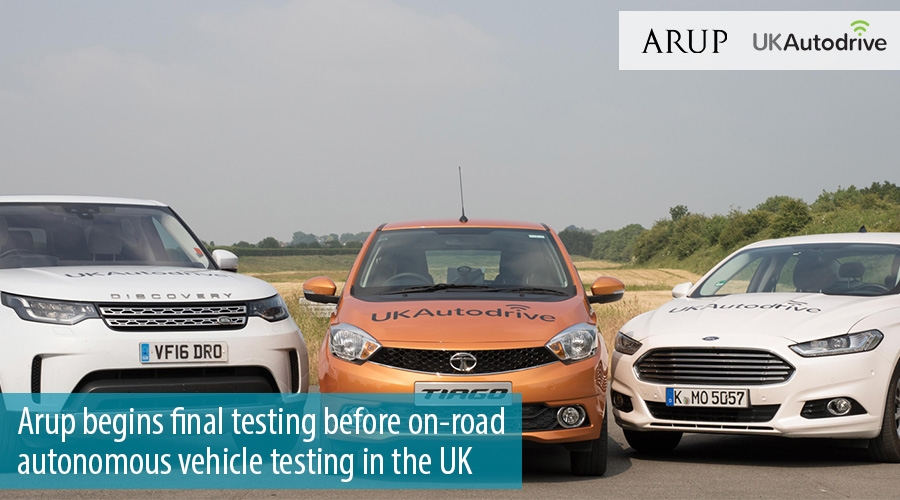 Arup begins final testing before on-road autonomous vehicle testing in the UK
