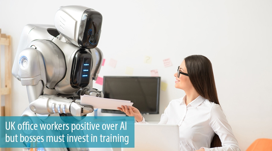 UK office workers positive over AI but bosses must invest in training