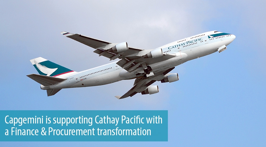 Capgemini is supporting Cathay Pacific with a Finance & Procurement transformation