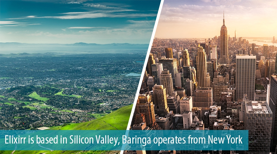 Elixirr is based in Silicon Valley, Baringa operates from New York