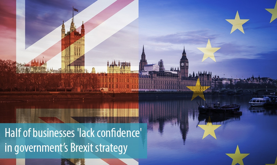 Half of businesses lack confidence in governments Brexit strategy
