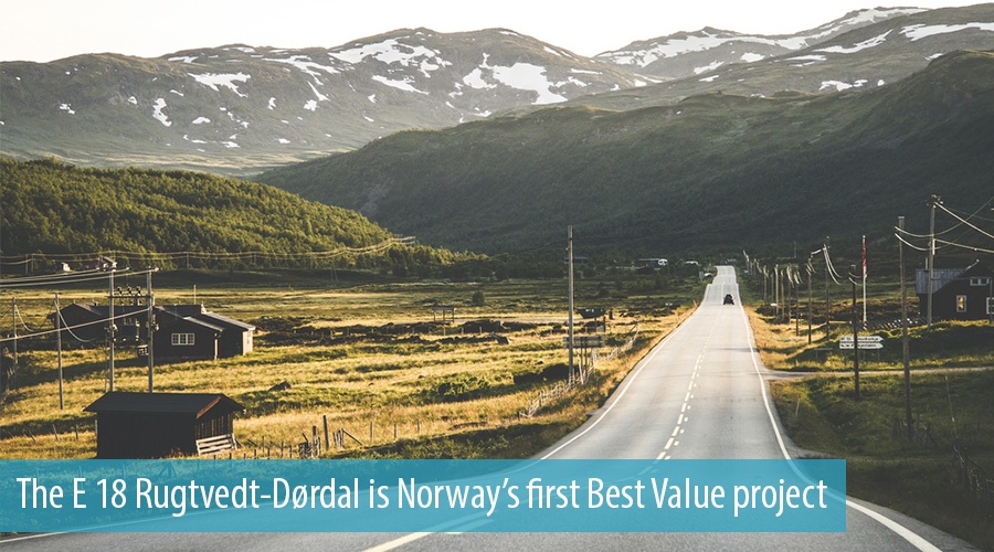 The E 18 Rugtvedt-Dørdal is Norway's first Best Value project