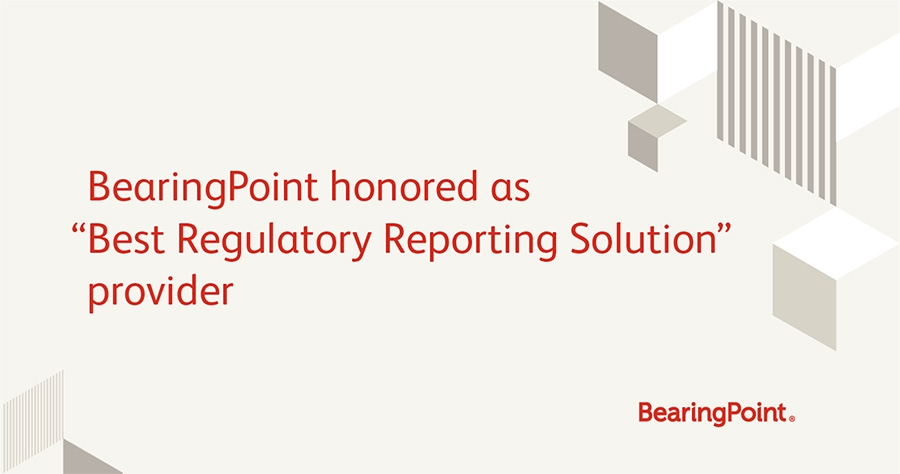 BearingPoint honored as Best Regulatory Reporting Solution provider