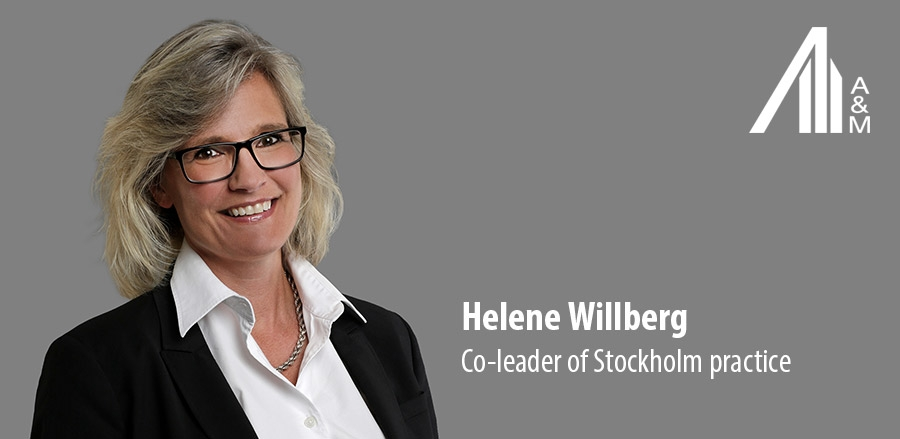 Helene Willberg - Co-leader of Stockholm practice A&M