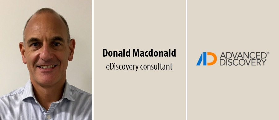 advanced discovery hires ediscovery consultant donald macdonald
