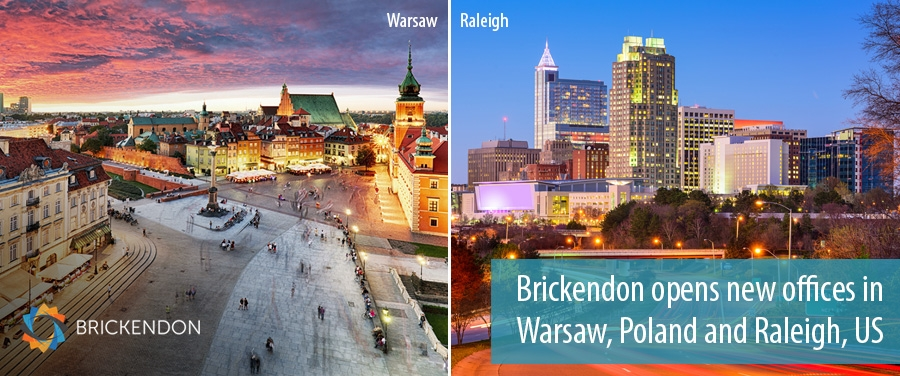 Brickendon opens new offices in  Warsaw, Poland and Raleigh, US