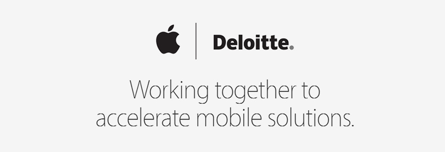 Apple teams up with Deloitte