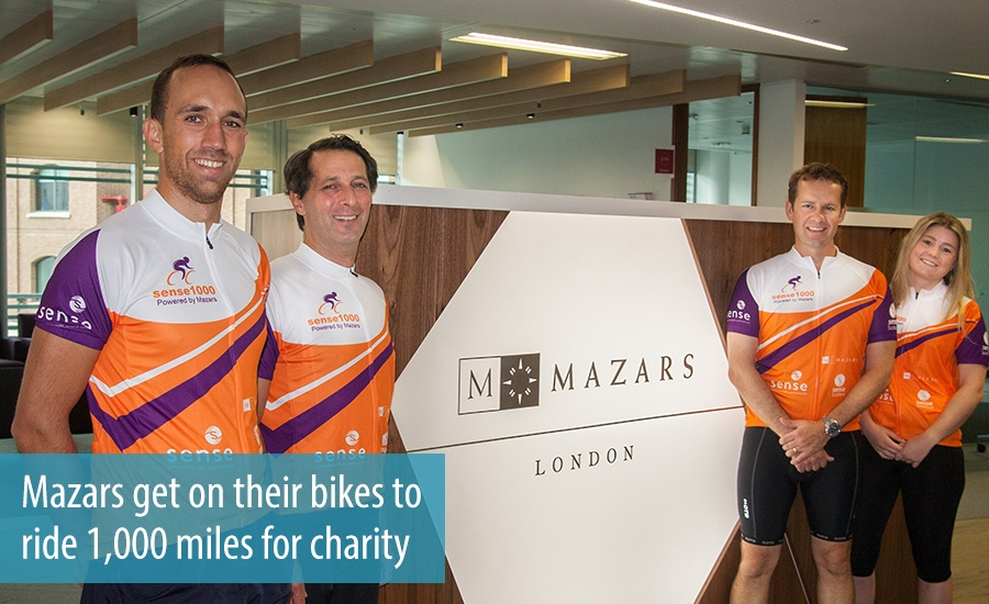 Mazars get on their bikes to  ride 1,000 miles for charity