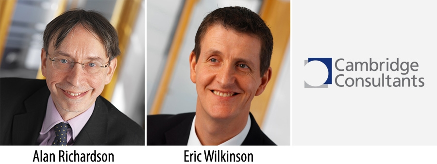 Alan Richardson & Eric Wilkinson, outgoing and incoming CEOs of Cambridge Consultants