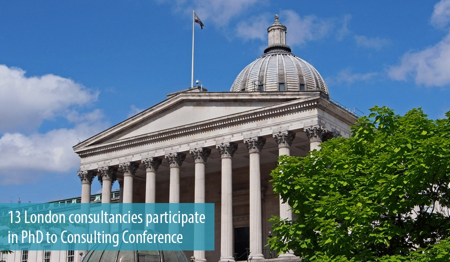 13 London consultancies participate in PhD to Consulting Conference